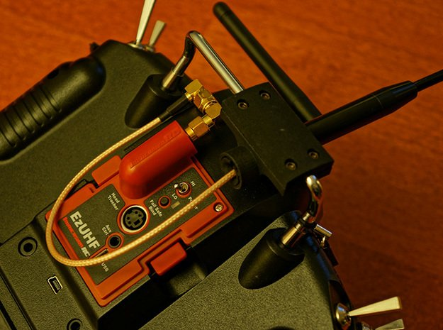 SRH-771 to Taranis X9D Antenna Holder in Black Natural Versatile Plastic