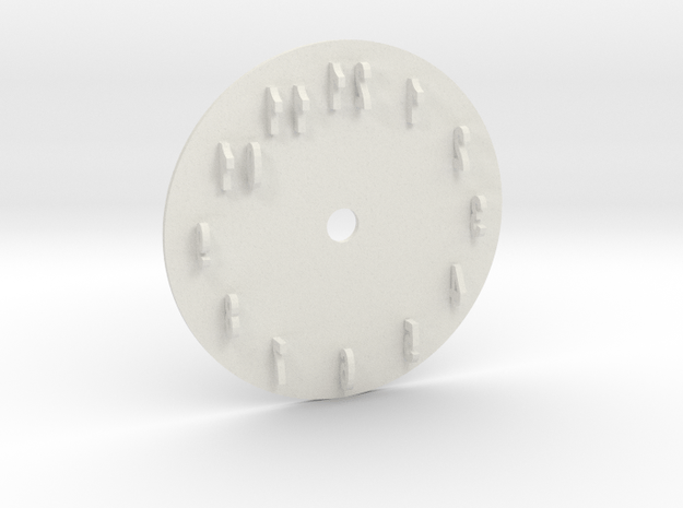Sun Dial Clock in White Natural Versatile Plastic
