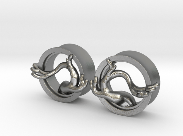 Bonsai Plugs (select a size) in Natural Silver