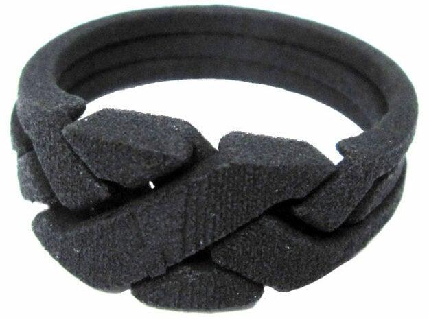Threesome Ring in Black Natural Versatile Plastic