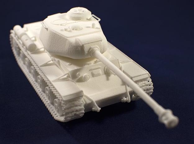 1:48 KV-1S Tank from World of Tanks game in White Natural Versatile Plastic