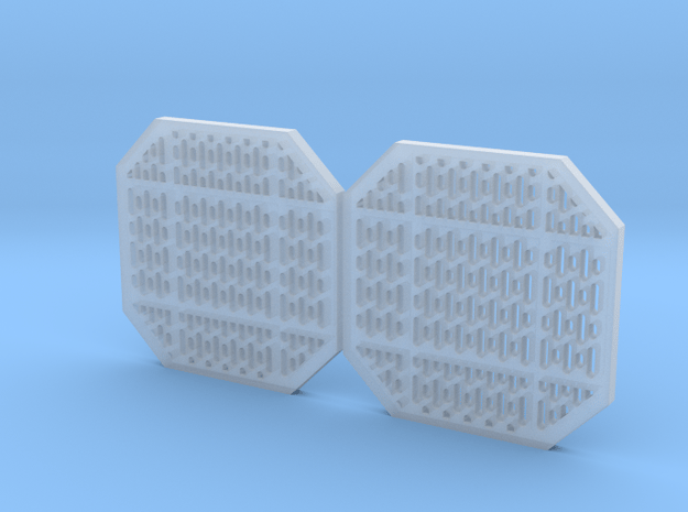 Access Panels 2mm Pair in Smooth Fine Detail Plastic