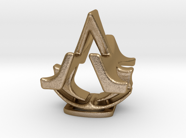 Assassins Creed Desk Sculpture in Polished Gold Steel