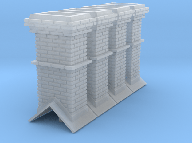 S Booking Station Chimneys in Smooth Fine Detail Plastic