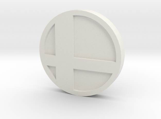 Super Smash Brothers Coin in White Natural Versatile Plastic