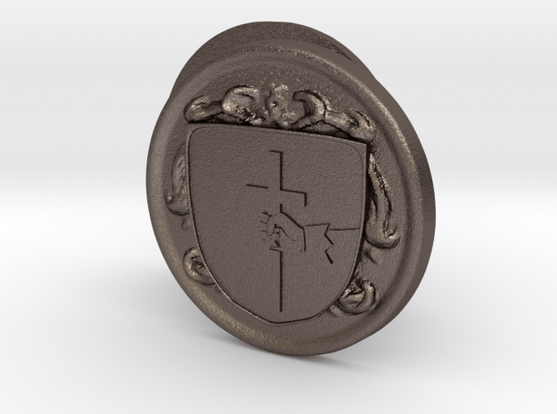 Odonnell Coat of Arms Cufflinks in Polished Bronzed Silver Steel