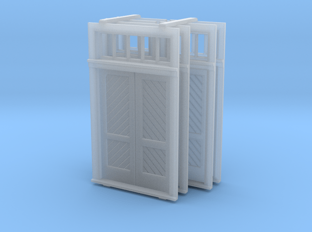 S Scale Booking Station Standard Door Set in Smooth Fine Detail Plastic