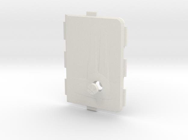 MARK V Cover Push-button  in White Natural Versatile Plastic