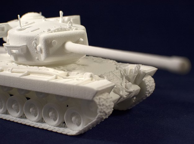 1:48 T29 Tank from World of Tanks game in White Natural Versatile Plastic