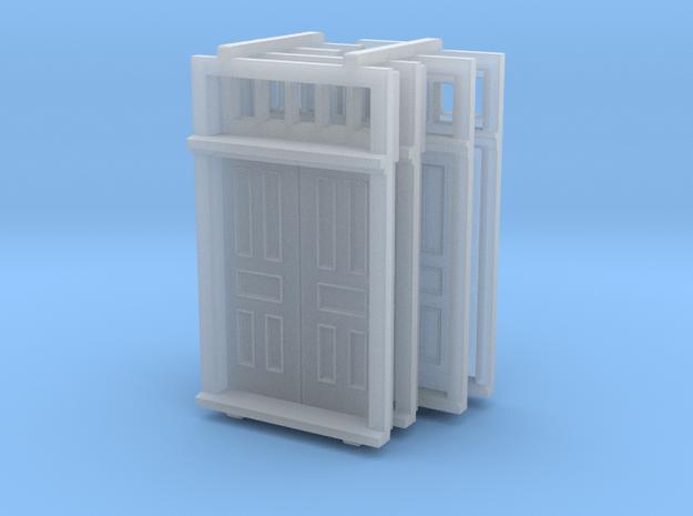 N Scale Elmira Booking Station Door Set in Smooth Fine Detail Plastic