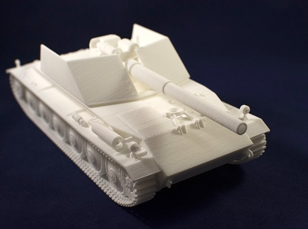 1:35 Rhm.-Borsig Waffenträger from World of Tanks  in White Natural Versatile Plastic