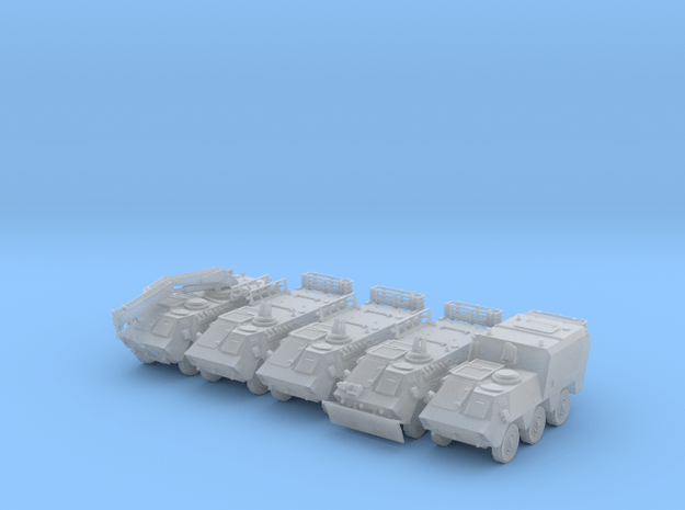 Pegaso BMR-M1-N-SET-x5-VAR-proto-01 in Smooth Fine Detail Plastic
