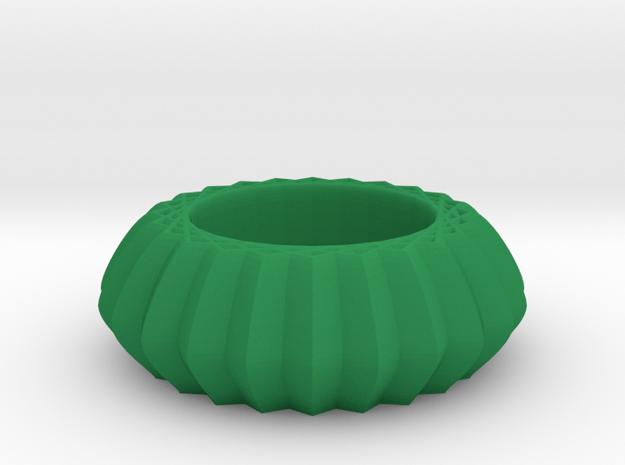 Striped bangle in Green Processed Versatile Plastic