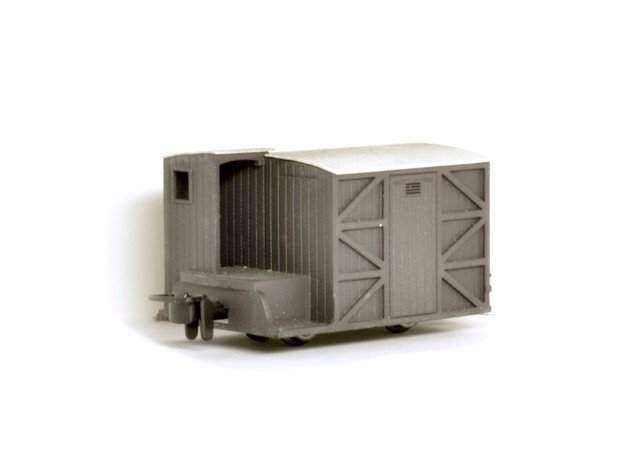 009 FR 'Sentry-box' type brake van in Smooth Fine Detail Plastic