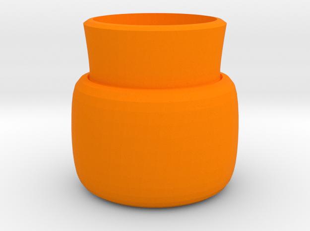 2 layers vase in Orange Processed Versatile Plastic