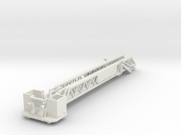 Vehicle-016-retracted-platform 1-64 in White Natural Versatile Plastic