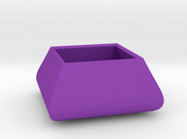 Square bowl in Purple Processed Versatile Plastic