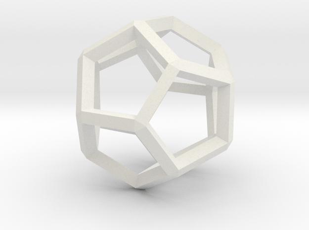 3D Honeycomb  in White Natural Versatile Plastic