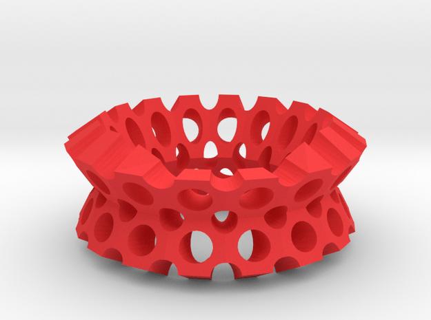 Round holes bracelet in Red Processed Versatile Plastic