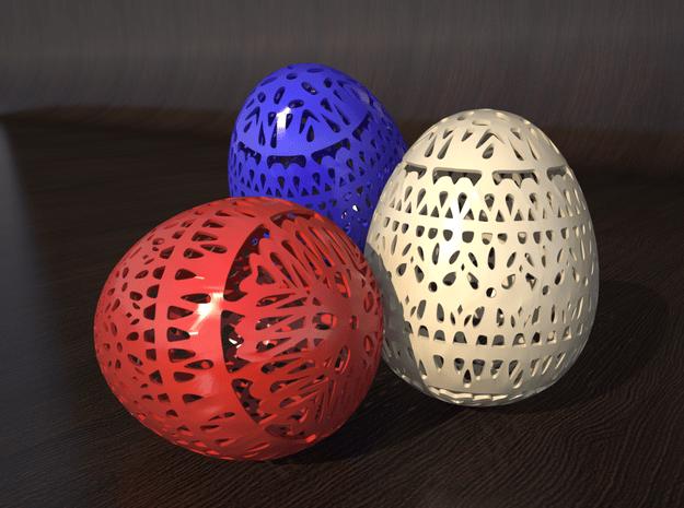 Classical Easter Egg  in White Natural Versatile Plastic