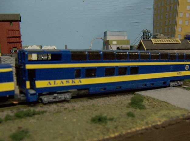 1:160 Alaska Railroad #651 - 656 in White Natural Versatile Plastic