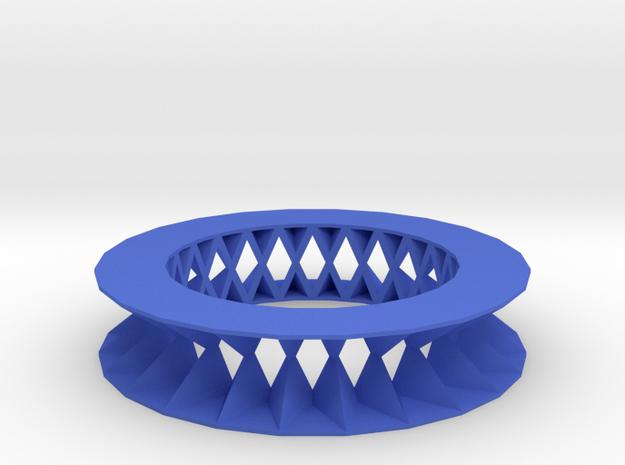 Rhombus pattern bracelet in Blue Processed Versatile Plastic