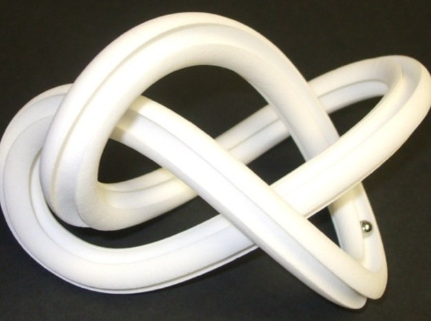 GroovyMobiusFigure8Knot 12 24 2014 in White Processed Versatile Plastic