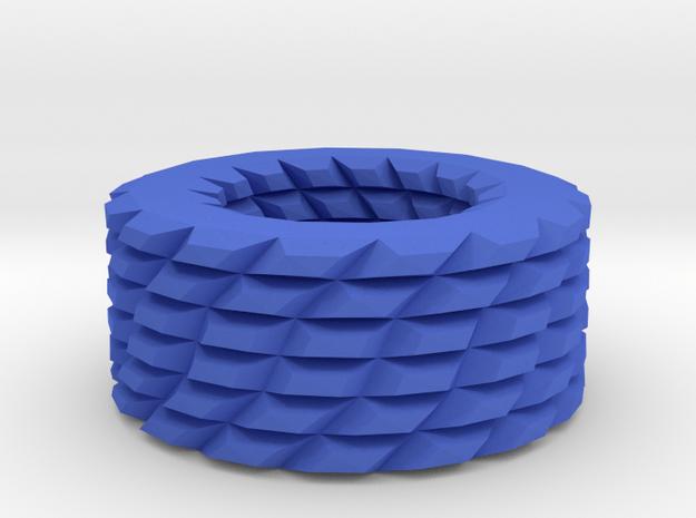 Shapes pattern bracelet in Blue Processed Versatile Plastic