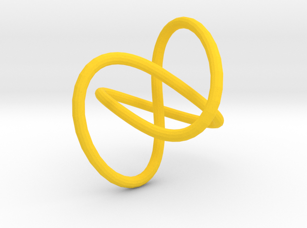 Knot earrings or necklace in Yellow Processed Versatile Plastic