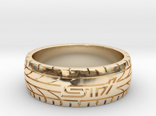 Subaru STI ring - 21 mm (US size 11 1/2) in 14K Yellow Gold