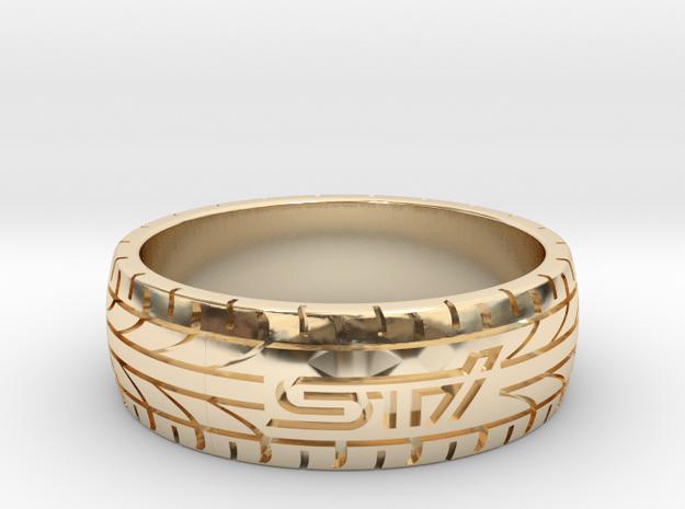Subaru STI ring - 22 mm (US size 13) in 14K Yellow Gold