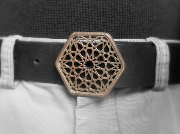 Dodeca Spirit Buckle in Polished Bronzed Silver Steel