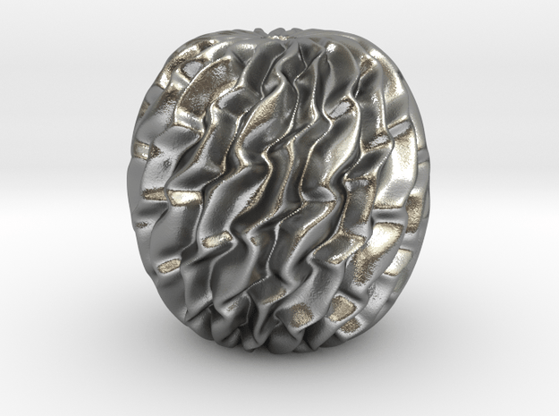 A Bead in Natural Silver