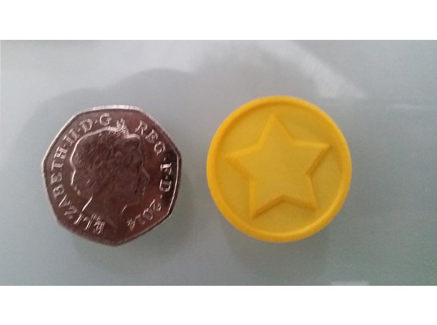 Animal Crossing: Bell Coin in Yellow Processed Versatile Plastic