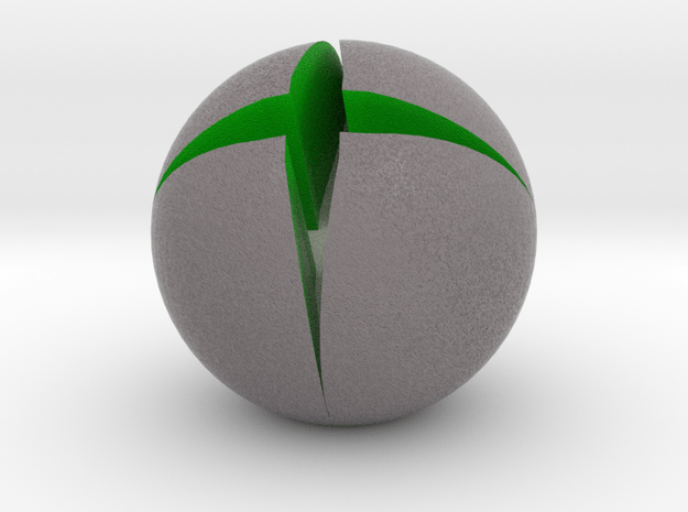 Xbox Logo Paperweight in Full Color Sandstone