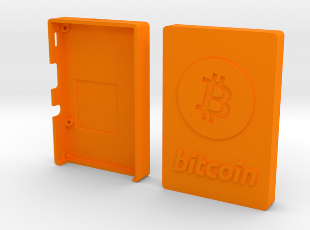 Case for Rasperry Pi 2, 3 or B+ with Bitcoin logo in Orange Processed Versatile Plastic
