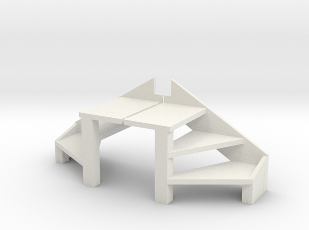MEV    Treppe Fügbeck in White Natural Versatile Plastic