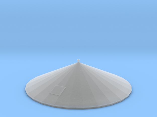 N Scale PEIR 25K Gal Roof in Smooth Fine Detail Plastic