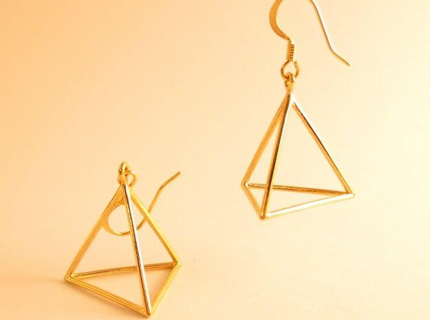Fire earrings in 18k Gold Plated Brass