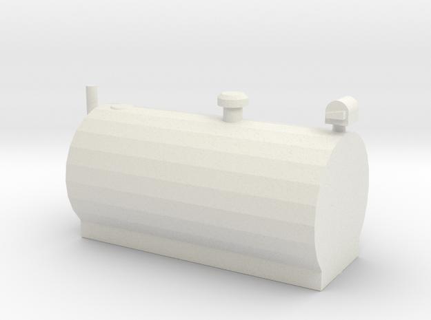 1/64 Big Horizontal Fuel Tank in White Natural Versatile Plastic