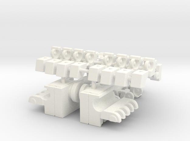 Transformers Masterpiece GRIMLOCK Hands FINAL in White Processed Versatile Plastic