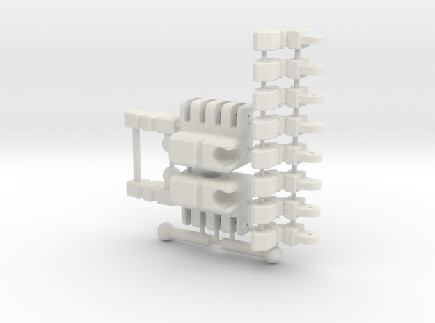 Transformers MP-01 Optimus Prime Hands (Exact Copy in White Natural Versatile Plastic