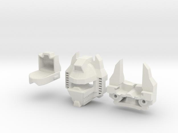 Transformers Masterpiece GRIMLOCK Head w/ Teeth in White Natural Versatile Plastic