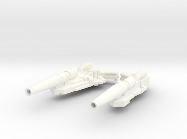 Transformers Masterpiece GRIMLOCK New Rifle in White Processed Versatile Plastic