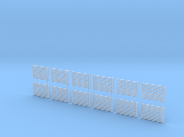 Concrete fencing spans at 1:87 HO scale Type B in Smooth Fine Detail Plastic