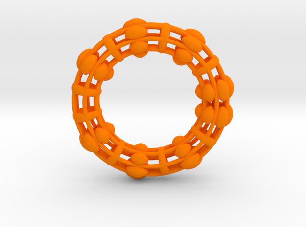 Torus 90mm in Orange Processed Versatile Plastic