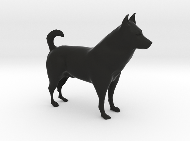 "Shepherd Dog - 10cm / 4"" in Black Natural Versatile Plastic"