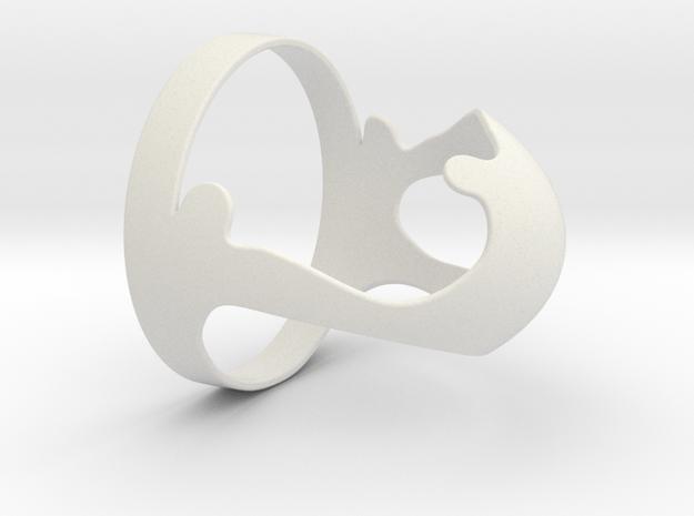 Rio 2016 Olympic Emblem in White Natural Versatile Plastic