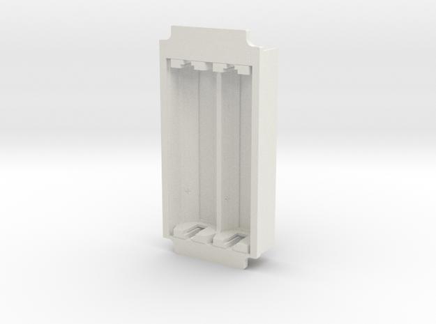 1590G-Series Battery Lid (simple) in White Natural Versatile Plastic