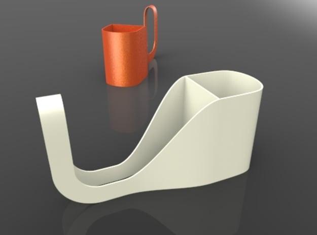 U-C in White Natural Versatile Plastic